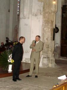 Christian Bréard, Président de l'association et Yanis Dubois